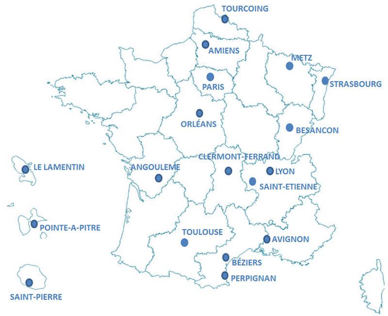 carte du réseau vidal -formation secrétaire médicale lyon